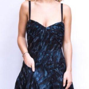 BCBG MaxAzria Abstract SILK Cocktail Dress - Sz. 0